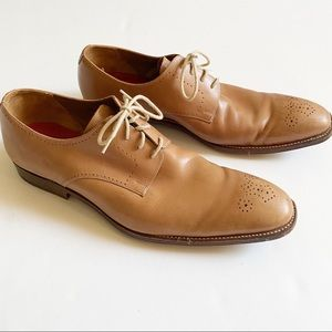 Grenson Leather Brogue Oxford Lace Up Shoes